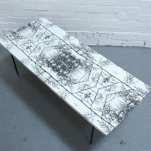 Image of Gorgeous Graphic Vintage Occasional Table