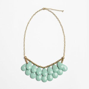 Image of Teal Briolette Necklace