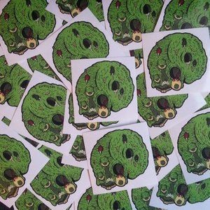 Image of Brain Skull Sticker
