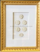 Image of In stock: special spring collection of framed intaglios, design as seen (5)