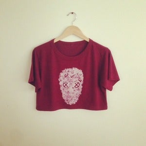 Image of Reincarnation Skull Crop Top (Cranberry)