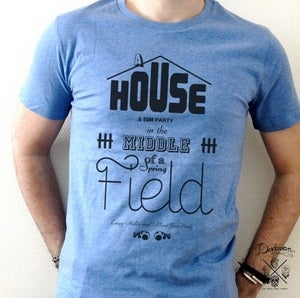Image of T-shirt homme House & EDM Party - bleu