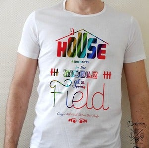 Image of T-shirt homme House &amp; EDM Party colors