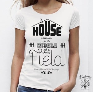 Image of T-shirt femme House & EDM Party - blanc