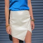 Image of Pearl Patent Pencil Skirt With Split