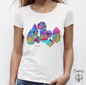 Image of T-shirt femme Disco King colors
