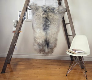 Image of Large Gray Sheepskin GR-275