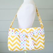 Image of messenger bag - yellow chevron w/sash