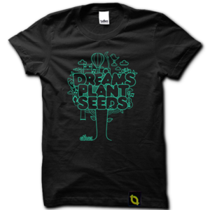 Image of Dreams Plant Seeds - Black Kids T-shirt