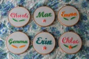 Image of Personalised Name Hoop - Colour &amp; Design Options
