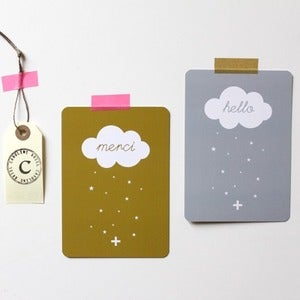 Image of Cartes  Hello &amp; Merci