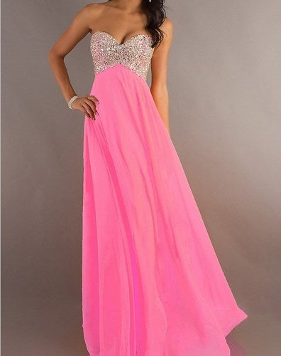 Image of 2013 Long Beaded Strapless Sweetheart Prom/Graduation Dress