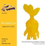 Image of Yellow Gummy Deadbeet with Mini Deadbeet - Wondercon 2013 - Scott Tolleson