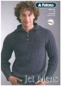 Image of Men's Knitting Pattern for Patons Jet 12 ply