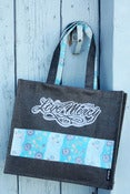 Image of  BLUE Love Mercy Farmhouse Tote Bags!