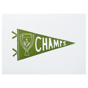 Image of Champs Pennant print