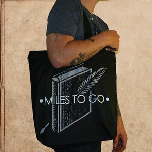 Image of Miles to go Tote - double sided, zipper top