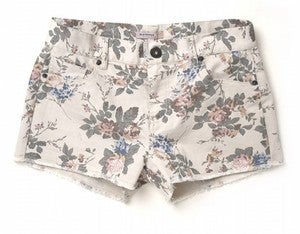 Image of Floral Denim Shorts