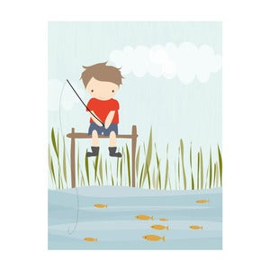 "Image of ""Banjo Fishing"" Art Print"