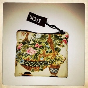 Image of SICK COIN PURSE - GOLD/PINKFLEECE