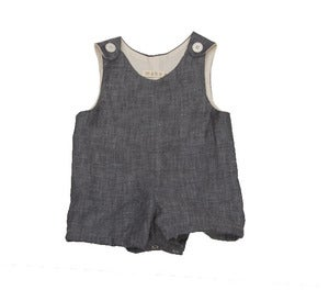Image of Blue Linen Boy Playsuit