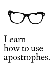 Image of Learn to use apostrophes 8x10 print