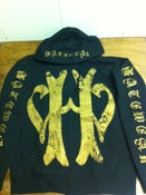 Image of Hatewear Gold Print Hooded Sweat Shirt
