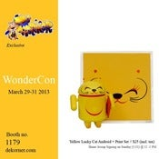 Image of Yellow Lucky Cat Print + Android Set - Shane Jessup - Wondercon 2013