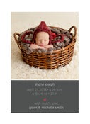 Image of Peahead Prints: Simply Stated Birth Announcement Template 8