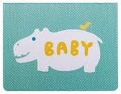 Image of Hippo Baby Card