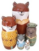 Image of The (Mini) Fantastic Mr. Fox Nesting Dolls