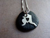 Image of Tiny Alaska State Necklace (sterling silver)