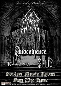 Image of EVOKEN (Exlusive UK Show), INDESINENCE, EVADNE, OPHIS