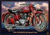 Image of 1950_Triumph_500_Speed_twin_classic_motorcycle_poster_print
