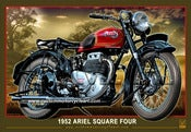 Image of 1952 Ariel Square Four_motorcycler_poster_motorcycle_print