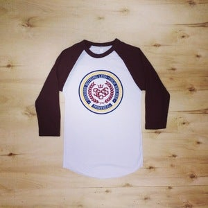 Image of The Crest Baseball Tee (Unisex-Burgundy)