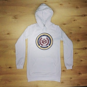 Image of The Crest Hoodie Dress (Women-White)