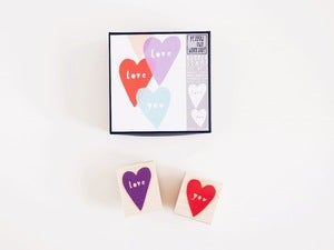 Image of Love You Rubber Stamp Set