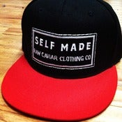 Image of Black and Red Classic Self Made Snapback