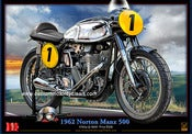 Image of 1962_Norton_Manx_500_motorcycle_poster_print