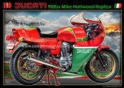 Image of 1978_Ducati_900SS_Mike_Hailwood_Replica_classic_vintage_motorcycle_poster