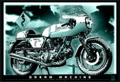 Image of DREAM_MACHINE_Ducati_900SS_motorcycle_poster_motorcycle_print