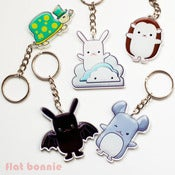 Image of Flat Bonnie & Friends Key Ring / Hook / Charm