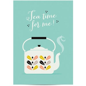 Image of Affiche Tea time for me