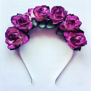 Image of Deep Velvet Flower Crown