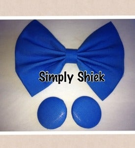 Image of Feeling Blue ... Royal Blue Bow and Studs