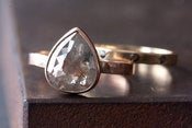 Image of Natural Grey Rose Cut Diamond Ring in 14kt Rose Gold