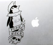Image of Punk Rock Penguin Vinyl Decal