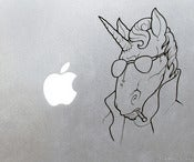 Image of Badass Unicorn Smoking a Cigarette Vinyl Decal