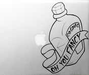Image of Oh You Fancy Booze Bottle Vinyl Decal